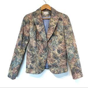 Alberto Makali tapestry metallic jacquard blazer